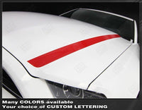Ford Mustang 2013-2014 Hood Spear Side Stripes Auto Decals - Pro Motor Stripes