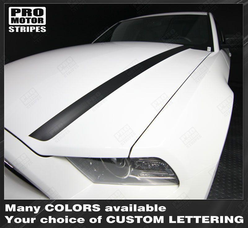 2013 2014 Ford Mustang hood Decals Stripes 122621932501-1
