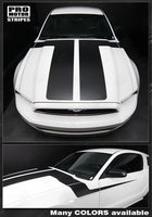 Ford Mustang 2013-2014 Hood to Side Double Accent Stripes Auto Decals - Pro Motor Stripes
