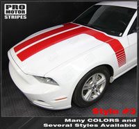 Ford Mustang 2013-2014 Hood to Side Double Stripes Auto Decals - Pro Motor Stripes