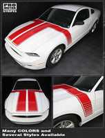 2013 2014 Ford Mustang hood  side Decals Stripes 122607000680-4