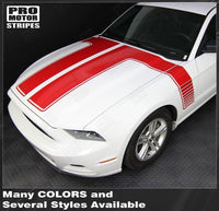 2013 2014 Ford Mustang hood  side Decals Stripes 122607000680-5
