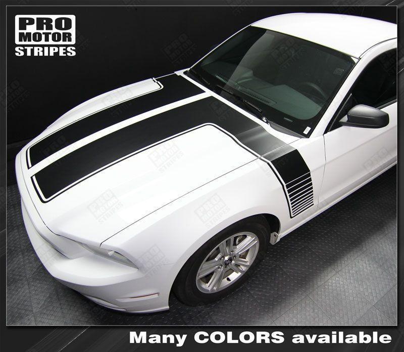 2013 2014 Ford Mustang hood  side Decals Stripes 122607000680-1