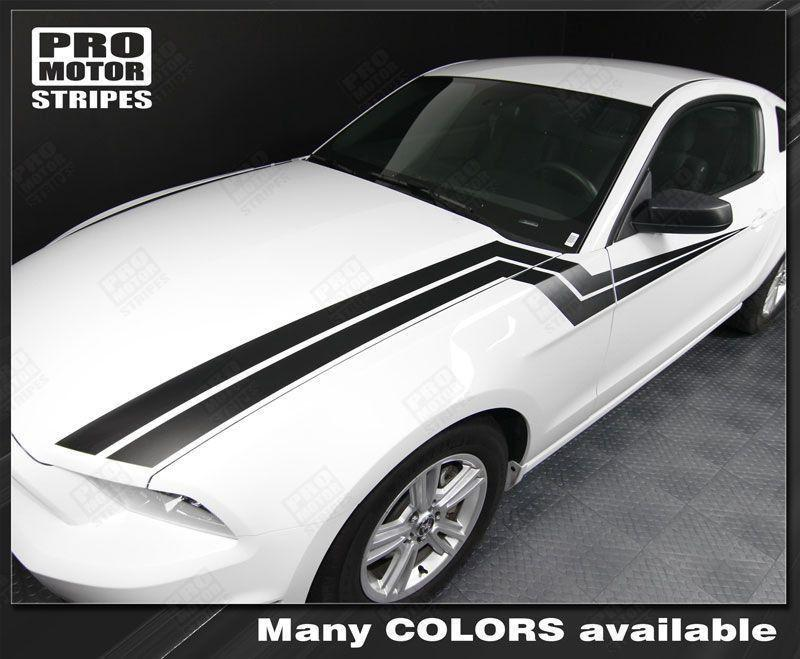 Ford Mustang 2005-2009 & 2013-2014 Hood to Side Thunderbolt Stripes