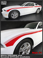 Ford Mustang 2013-2014 Javelin Side Strobe Stripes Auto Decals - Pro Motor Stripes