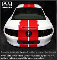 2005 2006 2007 2008 2009 2013 2014 2015 2016 2017 Ford Mustang hood  trunk  bumper  roof Decals Stripes 132266629932-2