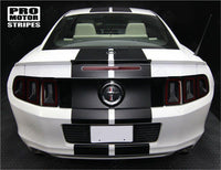Ford Mustang 2013-2014 Pre-cut Over-The-Top Dual Center Stripes Auto Decals - Pro Motor Stripes