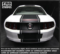 2005 2006 2007 2008 2009 2013 2014 2015 2016 2017 Ford Mustang hood  trunk  bumper  roof Decals Stripes 132229419771-2