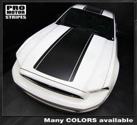 Ford Mustang 2013-2014 Pre-Cut Over-The-Top Rally Stripes Auto Decals - Pro Motor Stripes