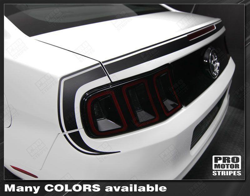 Ford Mustang 2013-2014 Retro Style Rear Fascia Highlight Stripes Auto Decals - Pro Motor Stripes