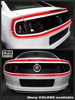 Ford Mustang 2013-2014 Retro Style Rear Fascia Stripes Auto Decals - Pro Motor Stripes
