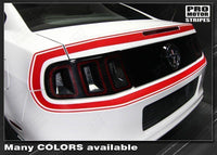 2013 2014 Ford Mustang trunk  bumper Decals Stripes 122609979262-3