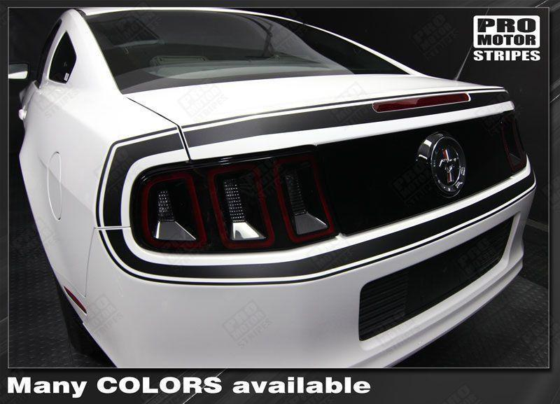 2013 2014 Ford Mustang trunk  bumper Decals Stripes 122609979262-1