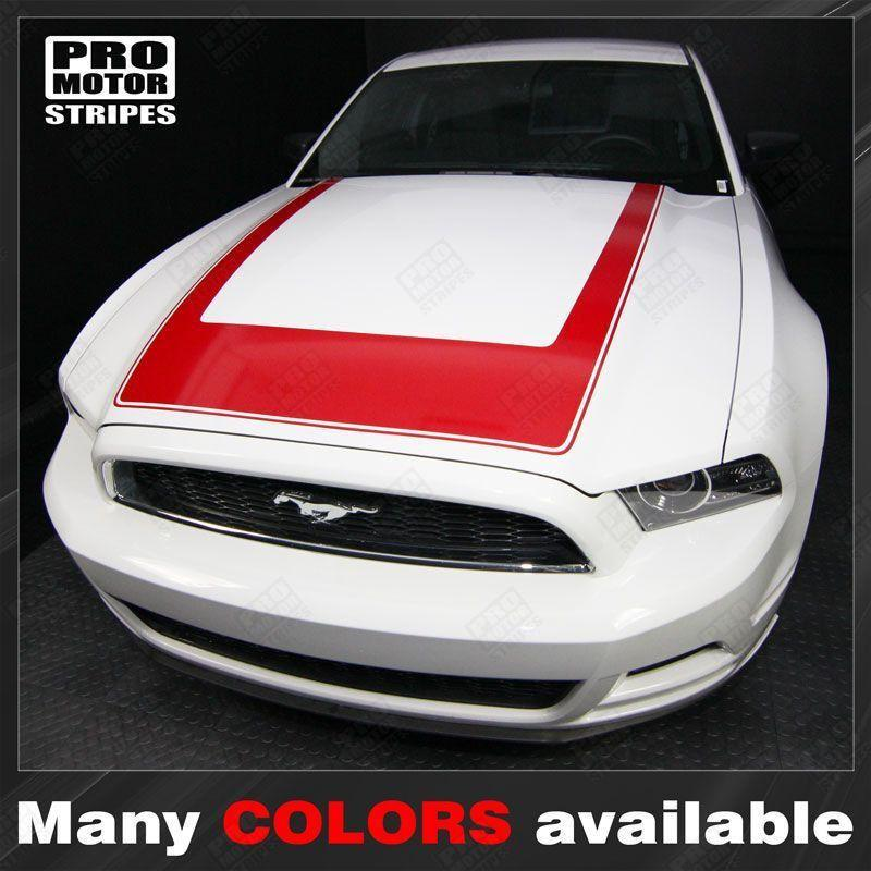 Ford Mustang 2013-2014 RTR Style Hood Accent Stripe Decal Auto Decals - Pro Motor Stripes
