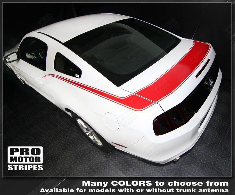 2013 2014 Ford Mustang side  trunk Decals Stripes 132229429434-1
