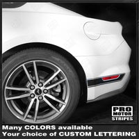 2015 2016 2017 2018 2019 Ford Mustang side  door  rocker panel Decals Stripes 132368009852-2