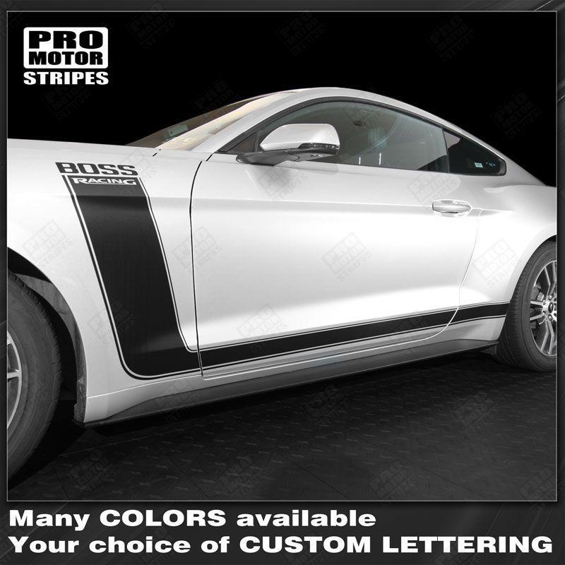 2015 2016 2017 2018 2019 Ford Mustang side  door  rocker panel Decals Stripes 132368009852-1