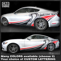 Ford Mustang 2015-2019 Cobra Style Multi-Color Side Stripes Decal