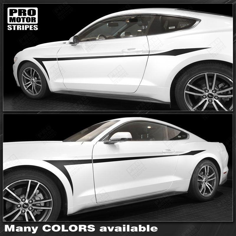 2005 2006 2007 2008 2009 2010 2011 2012 2013 2014 2015 2016 2017 2018 2019 Ford Mustang side  door Decals Stripes 122746481533-1