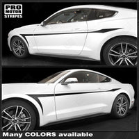 Ford Mustang 2015-2017 Devil's Tail Side Accent Stripes Auto Decals - Pro Motor Stripes