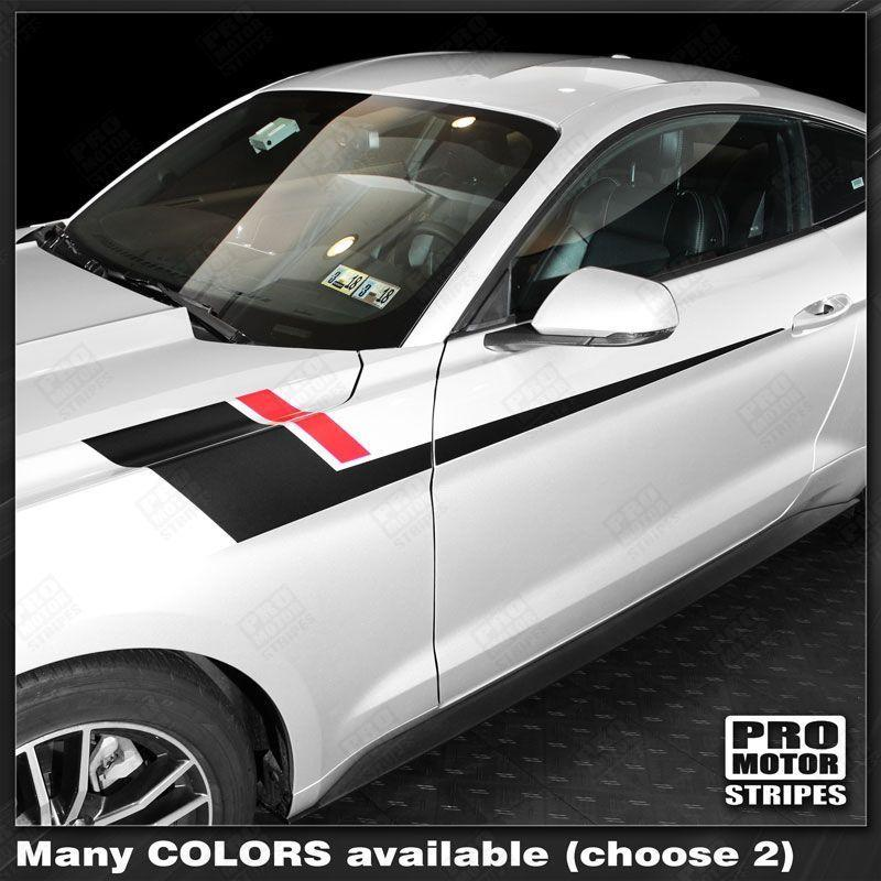 2005 2006 2007 2008 2009 2010 2011 2012 2013 2014 2015 2016 2017 2018 2019 Ford Mustang side  door Decals Stripes 132361470920-1