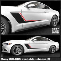Ford Mustang 2005-2019 Duo Color Side Accent Stripes RSH10