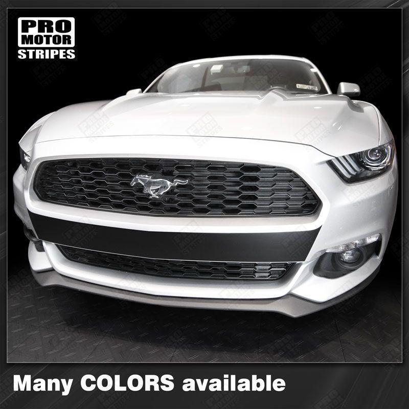Ford Mustang 2015-2017 Front Bumper Highlight Accent Decal Stripe Auto Decals - Pro Motor Stripes