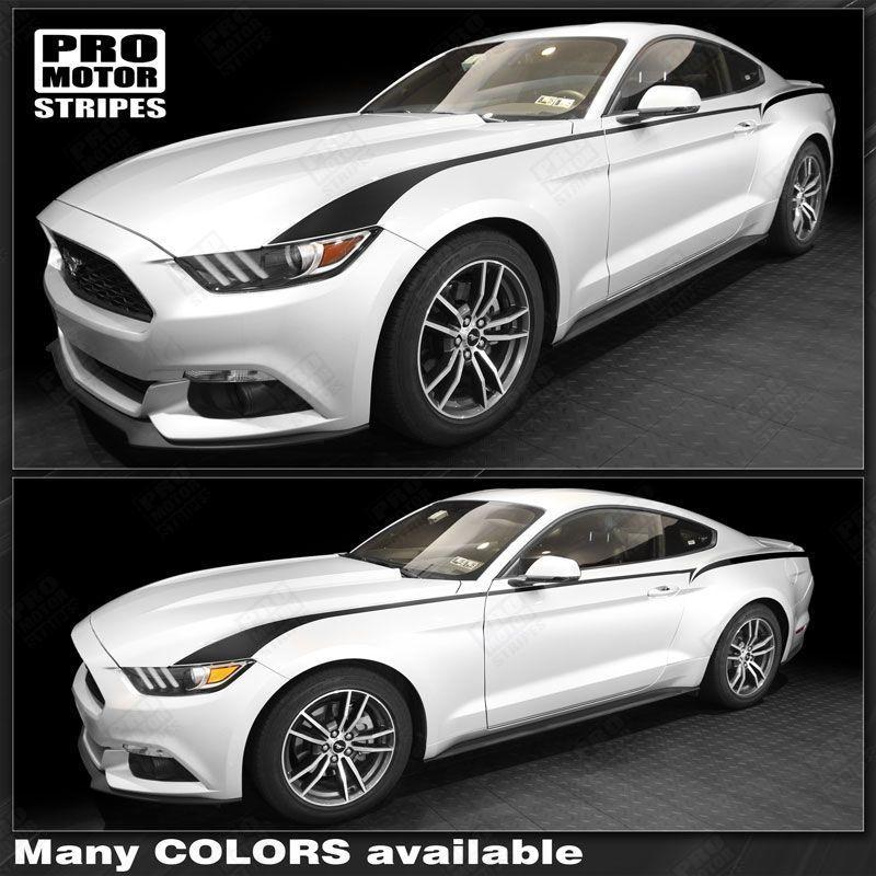 2015 2016 2017 2018 2019 Ford Mustang side  door Decals Stripes 122766174062-1