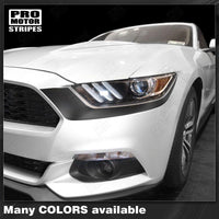 Ford Mustang 2015-2017 Headlight Front Accent Decals Stripes Auto Decals - Pro Motor Stripes