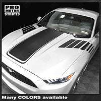 Ford Mustang 2015-2017 Hood and Side Strobe Accent Decals Stripes