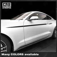 Ford Mustang 2015-2017 Javelin Side Accent Stripes Auto Decals - Pro Motor Stripes