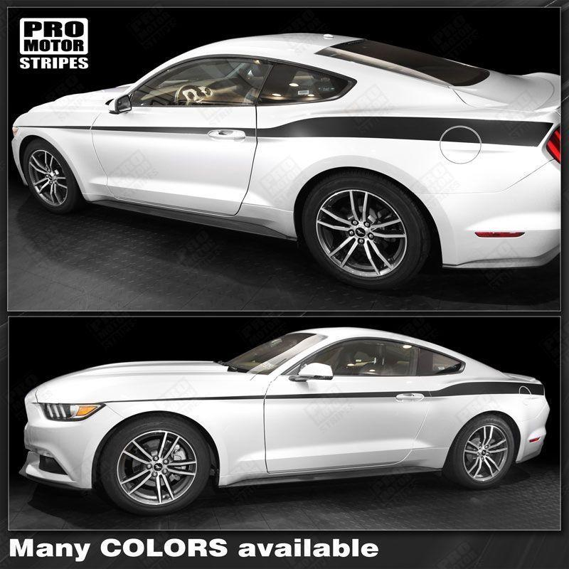 2005 2006 2007 2008 2009 2010 2011 2012 2013 2014 2015 2016 2017 2018 2019 Ford Mustang side  door Decals Stripes 152739752840-1