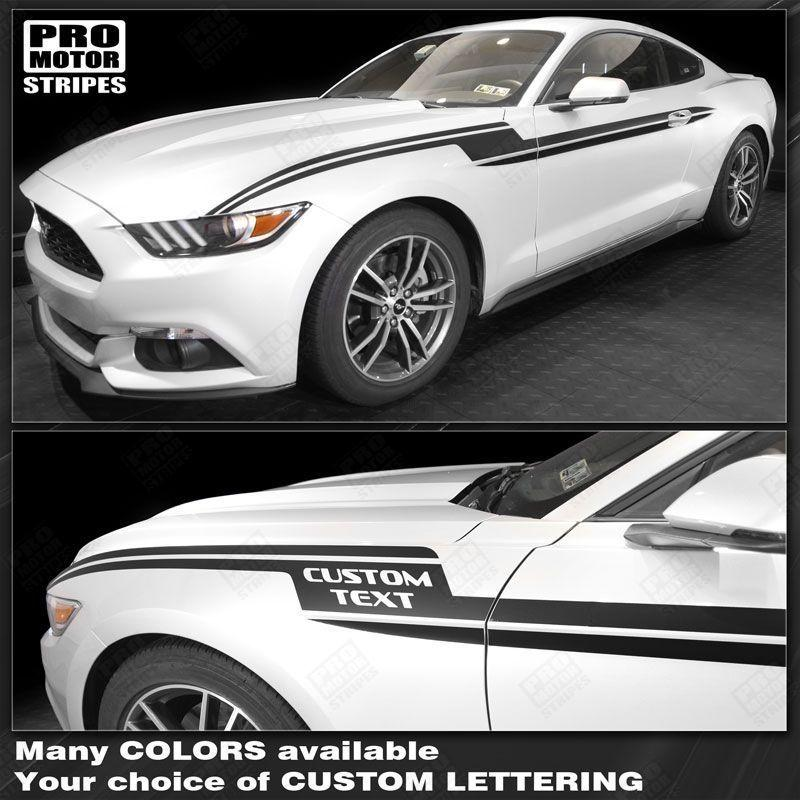 2005 2006 2007 2008 2009 2010 2011 2012 2013 2014 2015 2016 2017 2018 2019 Ford Mustang side  door Decals Stripes 132355152060-1