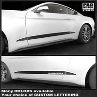 2015 2016 2017 2018 2019 Ford Mustang side  door  rocker panel Decals Stripes 152739757979-1