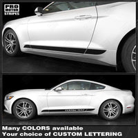 2005 2006 2007 2008 2009 2010 2011 2012 2013 2014 2015 2016 2017 2018 2019 Ford Mustang side  door  rocker panel Decals Stripes 152750162644-1