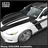 Ford Mustang 2015-2017 Over The Top and Side Sport Stripes