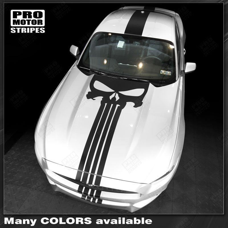 Ford Mustang 2015-2017 Over The Top Punisher Style Stripes Auto Decals - Pro Motor Stripes