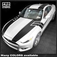 2015 2016 2017 Ford Mustang hood  side  trunk  door  roof Decals Stripes 132366976207-1