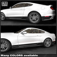 Ford Mustang 2015-2019 Rocker Panel Blackout Side Stripes