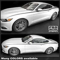2015 2016 2017 Ford Mustang hood  side  door Decals Stripes 152736551528-3