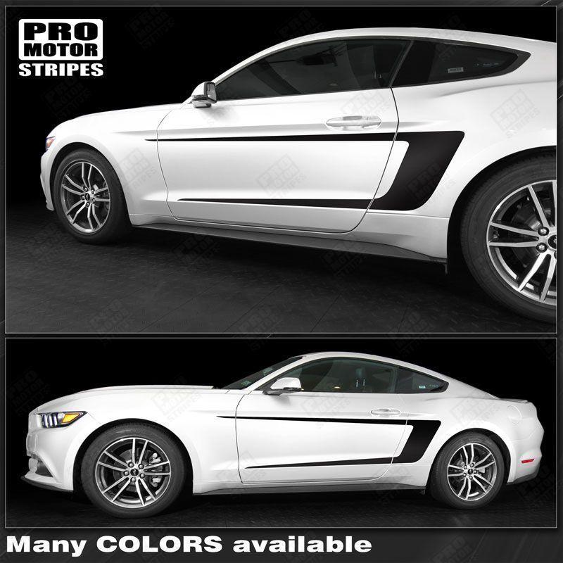 2015 2016 2017 2018 2019 Ford Mustang side  door Decals Stripes 122819648614-1