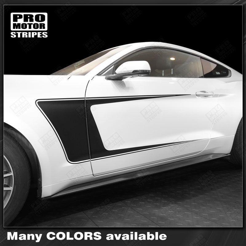 2015 2016 2017 2018 2019 Ford Mustang side  door Decals Stripes 122761968604-1