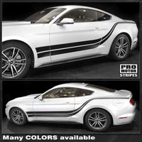 Ford Mustang 2015-2017 Side Accent Double Stripes Auto Decals - Pro Motor Stripes