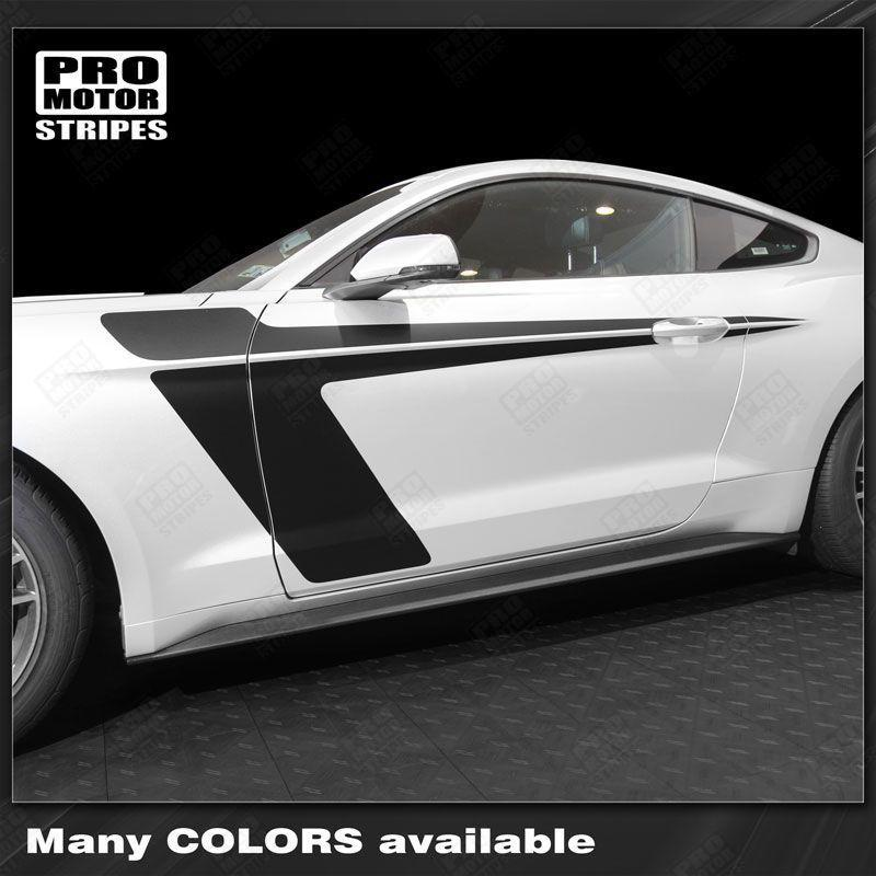 2005 2006 2007 2008 2009 2010 2011 2012 2013 2014 2015 2016 2017 2018 2019 Ford Mustang side  door Decals Stripes 152738115883-1