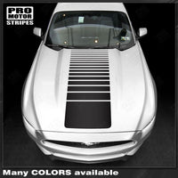 Ford Mustang 2005-2017 Hood Strobe Accent Decals Sport Stripes