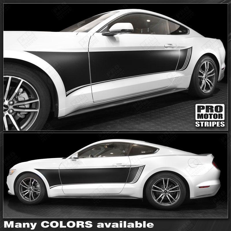 2015 2016 2017 2018 2019 Ford Mustang side  door Decals Stripes 132359161220-1