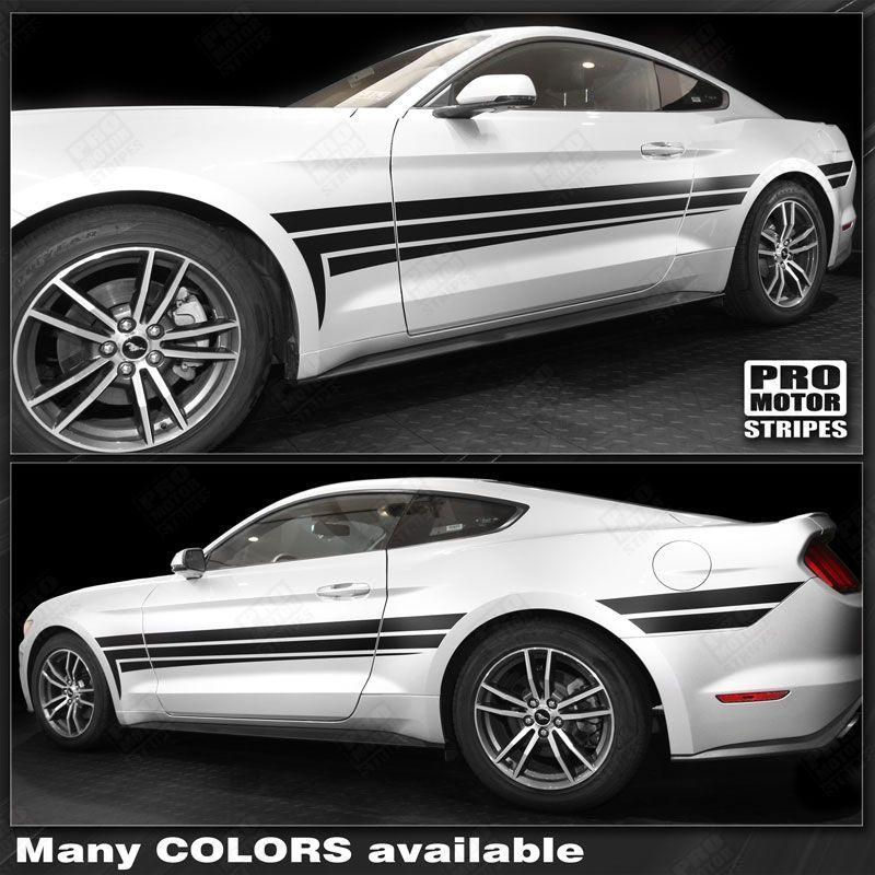 2005 2006 2007 2008 2009 2010 2011 2012 2013 2014 2015 2016 2017 2018 2019 Ford Mustang side  door Decals Stripes 152739761242-1