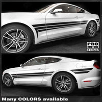 Ford Mustang 2015-2017 Side Accent Triple Stripes Auto Decals - Pro Motor Stripes