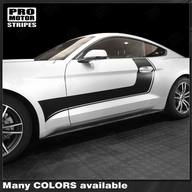 2005 2006 2007 2008 2009 2010 2011 2012 2013 2014 2015 2016 2017 2018 2019 Ford Mustang side  door Decals Stripes 122761970113-1