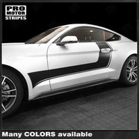 Ford Mustang 2015-2017 Side Door Accent Hockey Stripes Auto Decals - Pro Motor Stripes